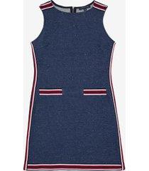 tommy hilfiger women's essential sleeveless shift dress denim - xs