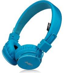 audífonos gamer, nia x2 gaming estéreo hd manos libres original auriculares bluetooth libre plegables deportivos con micrófono de apoyo tf tarjeta de radio fm (azul)