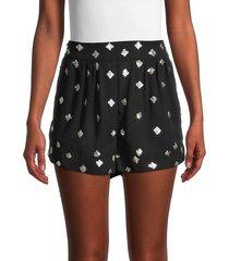iro women's falba high-rise sequin shorts - black - size 36 (4)