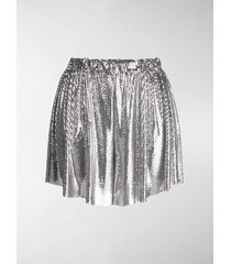 paco rabanne metallic shorts