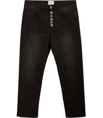 koons verliezen fit jeans five pockets, decoratieve knopen.