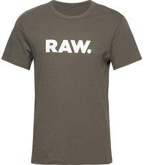 holorn r t s\s t-shirts short-sleeved grå g-star raw