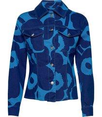 kedolla unikko coat jeansjack denimjack blauw marimekko