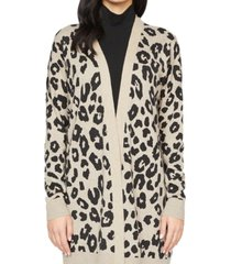 sanctuary play printed open-front cardigan
