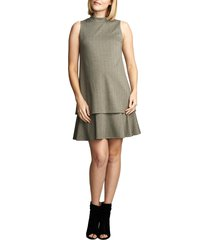 women's maternal america lucy maternity dress, size medium - grey
