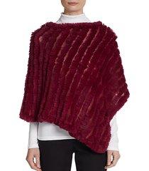 asymmetrical dyed rabbit fur pullover