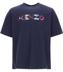 kenzo t-shirt with multicolor logo print