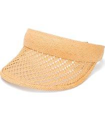 gucci woven-design visor hat - neutrals