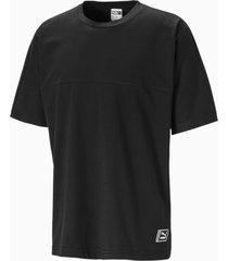 boxy tape t-shirt voor heren, zwart, maat xs | puma