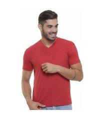 camiseta decote v masculina