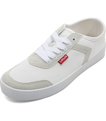 tenis blanco-beige levis