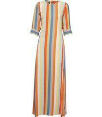 phoenix dress stripe maxi dress galajurk multi/patroon iben