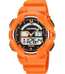 reloj digital for man naranja calypso