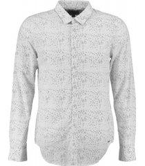 garcia wit slim fit overhemd valt kleiner