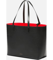 mansur gavriel women's large tote bag - black/flamma