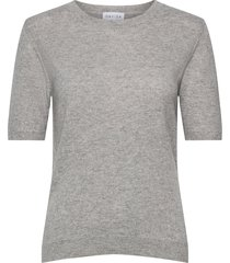 t-shirt over d t-shirts & tops knitted t-shirts/tops grijs davida cashmere