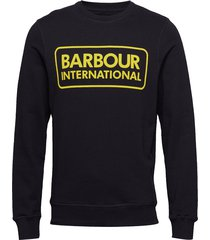 b.intl large logo sweat sweat-shirt tröja svart barbour