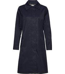 joyceiw a-line coat dunne lange jas blauw inwear