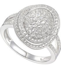 1-1/4 ct. t.w. round shape diamond ring in 14k white gold