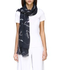 emporio armani scarf emporio armani scarf with all over logo print