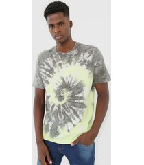 camiseta ellus tie dye cinza/verde