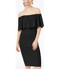 almost famous juniors' off-the-shoulder bodycon dress