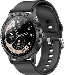reloj inteligente negro goma todobags