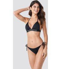 calvin klein cheeky string side tie bikini - black
