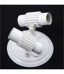 spot com aleta de sobrepor para 2 lâmpadas branco