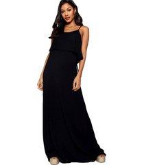 vestido racy modas longo festa alcinha preto