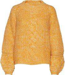 ziagz pullover ma19 gebreide trui geel gestuz
