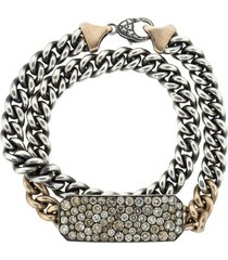 champagne diamond ten table wrap bracelet & choker
