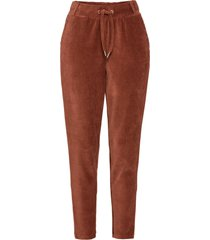 pantaloni in velluto con cinta elastica (marrone) - rainbow