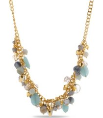 catherine malandrino women's gold-tone beaded bunch necklace