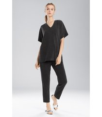cloud top pajamas, women's, black, size xs, n natori