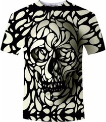 design skull print mens tshirt fashion 3d t-shirt summer short sleeve casual