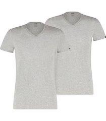 t-shirt korte mouw puma basic v-neck tee 2er pack