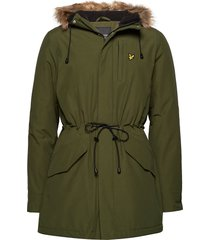 winter weight microfleece lined parka parka jas groen lyle & scott