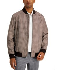 tasso elba men's medallion print bomber jacket, created for macy's