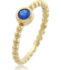 anel viva jolie   bolinha safira ouro