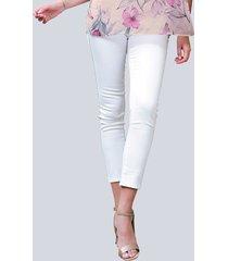 broek alba moda wit::zilverkleur