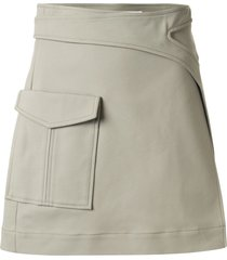 dion lee pocket interlock mini skirt - green
