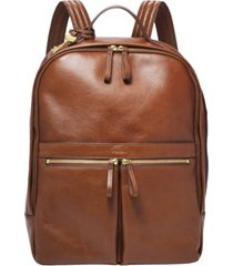 fossil women's tess leather laptop backpack