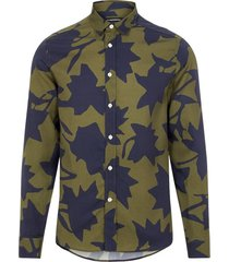 monotone leaf slim shirt