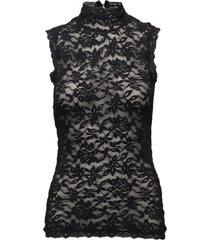 top t-shirts & tops sleeveless zwart rosemunde