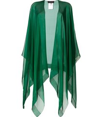 talbot runhof hint poncho scarf - green