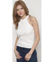 blusa unicolor sin manga blanca 609 seisceronueve