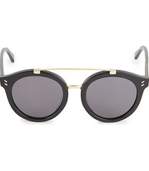 51mm round browline sunglasses