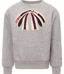 gucci grey sweatshirt for girl with patch shaped like bow