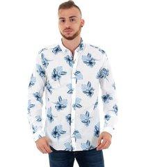 overhemd lange mouw jack & jones 12151589 jprsummer l/s bd white slim fit
